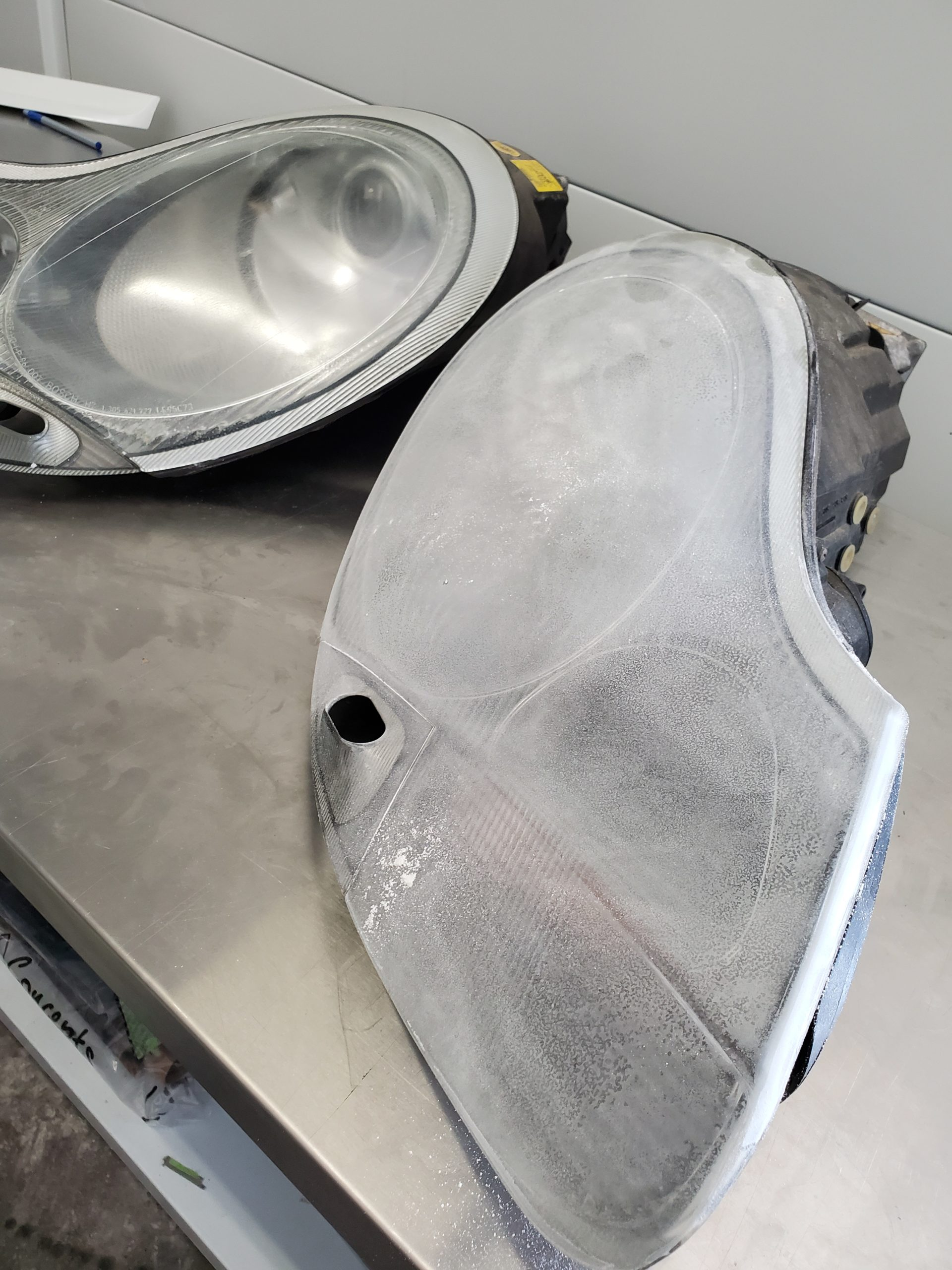restore headlights before after